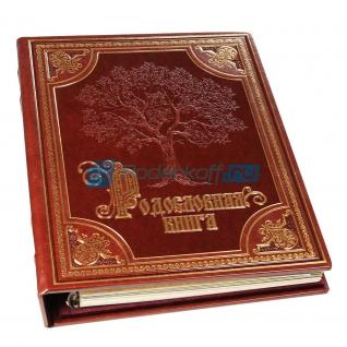 """Родословная """"Изысканная"""" в обложке из искусственной кожи, золото-5864410"""
