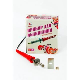 Прибор для выжигания многоцелевой с пластиковой ручкой 2 насадки.-6832957