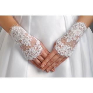 Перчатки свадебные №110, белый (короткие)-386203