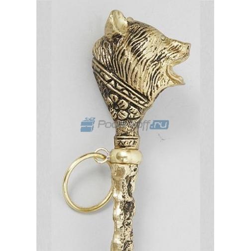"""Лопатка для обуви """"Медведь"""", цвет золото-762058"""