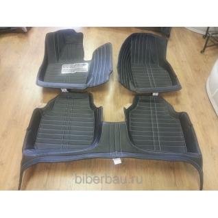 Кожаные автоковрики Skoda Superb чёрный 2008-2014-907181
