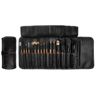 Профессиональные кисти для макияжа - Набор JUST на 16 кистей для макияжа в черном кофре на клипсе-2147891