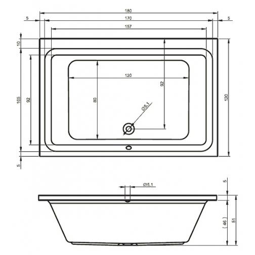 Ванна RIHO CASTELLO 180x120 см 6649897 1