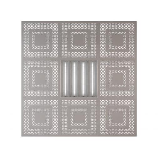 Потолочная плита Presko Цезарь 59.5х59.5 металлик-6768523