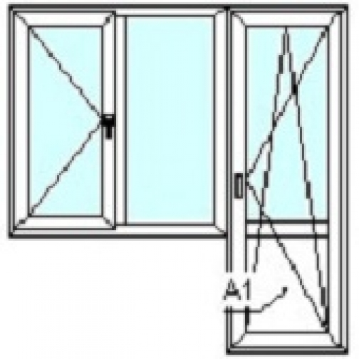 TEPLOWIN Балкон Darrio Гост 200 с одной створкой-1292471