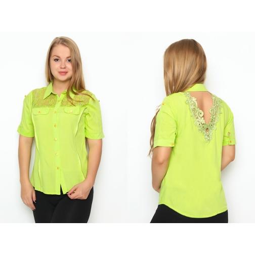 Блуза с коротким рукавом 48 размер-6686986