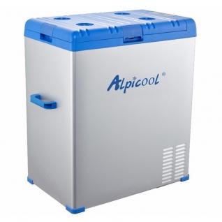 Kомпрессорный автохолодильник ALPICOOL A75 синий (75л, 12/24/220В)-36995170