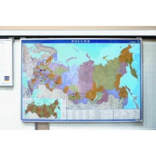 Карта России (политико-административная), 120 х 80 см. горизонтильная-7008597