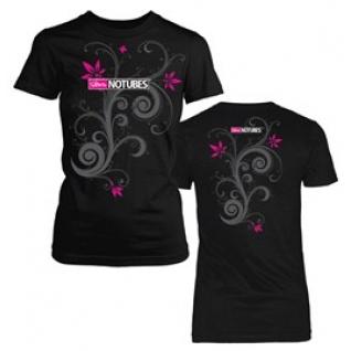 Футболка женская Stan's NoTubes T-shirt черный, цветы, S