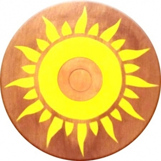 Круглый щит из бука, 35 см ЯиГрушка-37748453