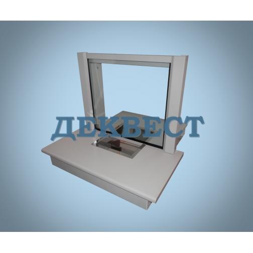 Передаточное кассовое окно ПУ-2Н (неподвижный лоток).-494636