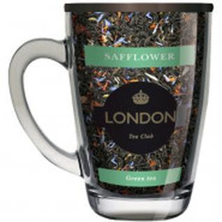 Чай зеленый с Сафлором ТМ London Tea Club 70г в стеклянной кружке