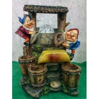 Декоративный фонтан | Настольный для дома | Гномы у колодца-5255106