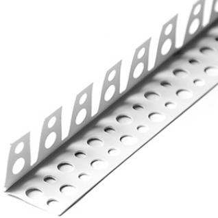 Угол арочный перфорированный белый (3м) / Профиль арочный перфорированный белый из ПВХ (3м)-2170781