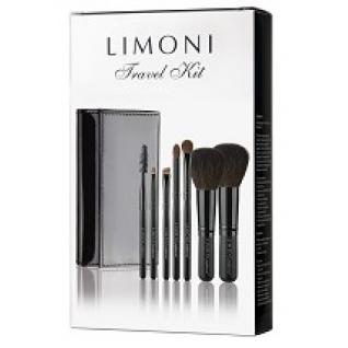 LIMONI Дорожный набор кистей для макияжа TRAVEL KIT - 7 кистей + лаковый чехол-2147466