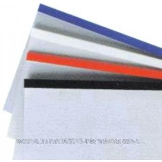 Папки для термопереплета белые размер 6 мм.