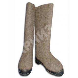 Валенки серого цвета на резиновом ходу-8170623