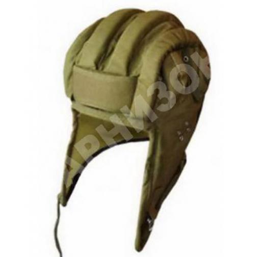 Шлем ВДВ прыжковый защитного цвета с ребрами жесткости-10622