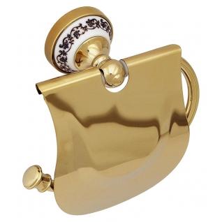 Бумагодержатель с крышкой Fixsen FX-78500 Bogema Gold-6760816