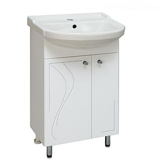 Тумба для ванной Runo Классик 50 без Раковины (Classic 50) Белая