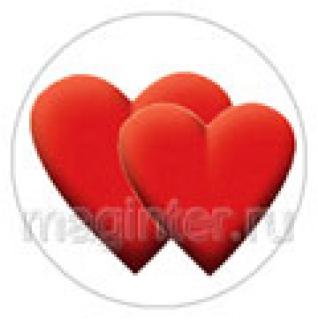 "Пластина шунгитовая для телефона круглая ""Сердца"" диаметр 20 мм"