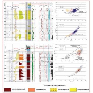 Технология выделения коллекторов и определения коэффициентов пористости, нефте- и газонасыщенности, состава углеводородов по комплексу нейтронных методов (2 ННКт +СНГК- Cl)-8917193