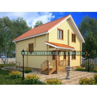 "Проект ""БАЛТЫМ"" из профилированного бруса 145 х 190, размер 8,5 х 9,5 м., площадь дома 121 кв.м."