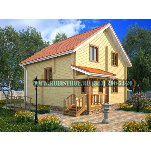 "Проект ""БАЛТЫМ"" из профилированного бруса 145 х 190, размер 8,5 х 9,5 м., площадь дома 121 кв.м.-465304"