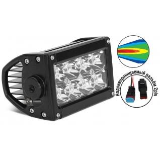 Светодиодные фары OFF-Road AVS Light SL-1610A (24Вт) + провода AVS-833191