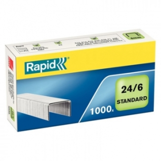 Скобы для степлера N24/6 Rapid оцинкованные (2-30 лист.) 1000 шт в упаковке