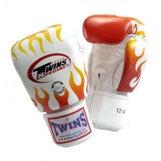 Twins Special Боксерские перчатки Twins FBGV-7, 10 унций, Белый