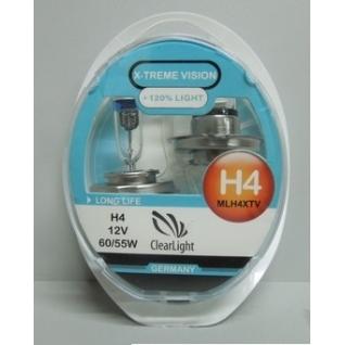 Лампа H4(Clearlight)12V-60/55W X-treme Vision +120% Light (2 шт.)