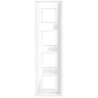 "Четырехпостовая рамка вертикальная стеклянная белая ""эстетика"" gl-vp104-wc"