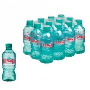 Вода минеральная Архыз мин. без газа 0,33 л. 12 шт/уп.