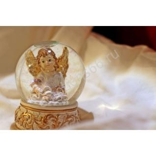Сувенир шар ангелочик белый-873755