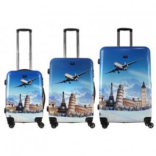 Alezar Комплект пластиковых чемоданов 3в1 Alezar - Tourist (L+M+S)