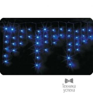 Neon-night NEON-NIGHT Гирлянда Айсикл (бахрома) светодиодный, 2,4х0,6м, эффект мерцания, белый провод, 220В, диоды СИНИЕ 255-035