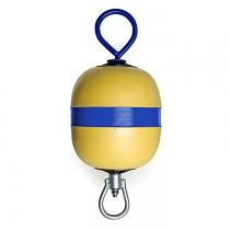 Буй причальный/швартовый Polyform AS 500x240мм желтый (MR30)