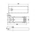 HDL 84 D SSS Доводчик дверной  для установки стеклянных дверей