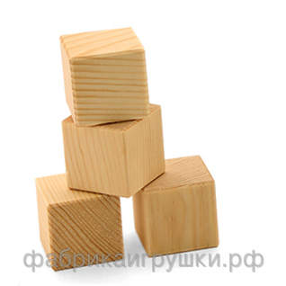 """Деревянные кубики  """"4"""""""