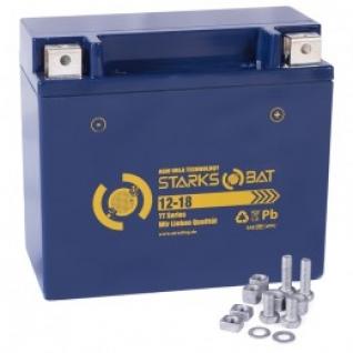 Аккумулятор для мототехники STARKSBAT STARKSBAT YT 12-18 230А обратная полярность 18 А/ч (175x87x155)-5789165