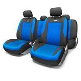 Nissan Tiida / Ниссан Тиида седан 2006- Чехлы на сиденья автомобиля AUTOPROFI Evolution (черно/синие)-434260
