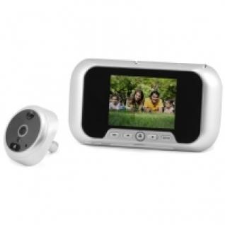 Видеоглазок в дверь с записью на SD карту, звонком и датчиком движения R01 Silver-5006162