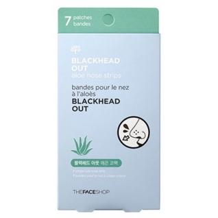 THE FACE SHOP - Полоски очищающие для носа Blackhead Out Aloe Nose Strips с экстрактом алоэ-2146566