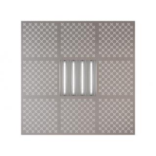 Потолочная плита Presko Техно 59.5х59.5 металлик