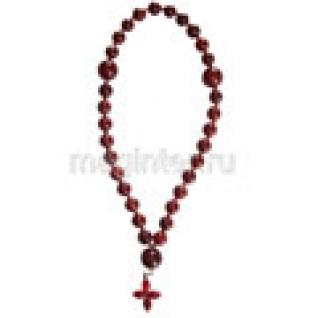 Четки православные из яшмы красной, 10 мм-37132330
