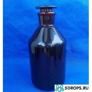 Склянка для реактивов тёмное стекло с притёртой пробкой 2500 мл (узкое горло)-5000203