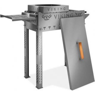 Мангал Viking с крышкой и подставкой под казан