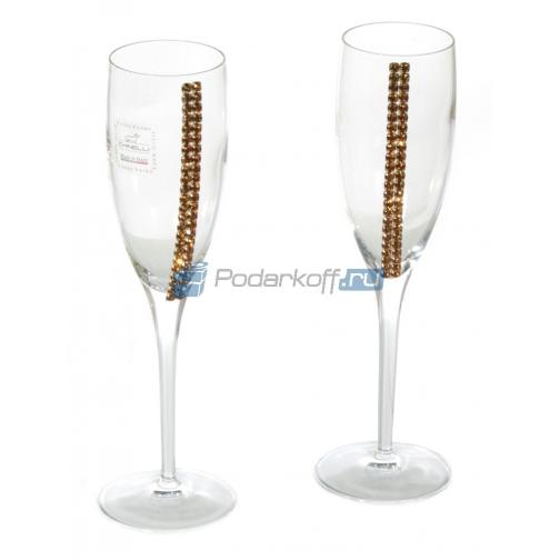 Бокалы для шампанского с кристаллами Swarovski-763318