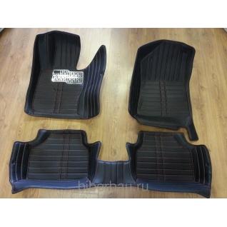Кожаные автоковрики BMW X1 чёрный 2009-2014-907323